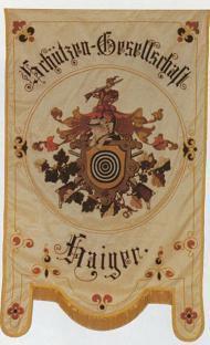 Die Vereinsfahne der SG-Haiger