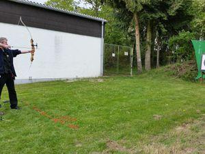 Bogenschiessen neben dem Schützenhaus