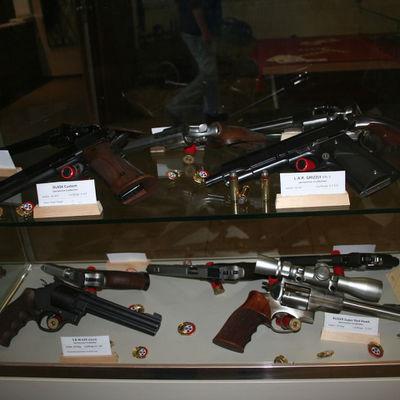 Vitrine Handfeuer Waffen